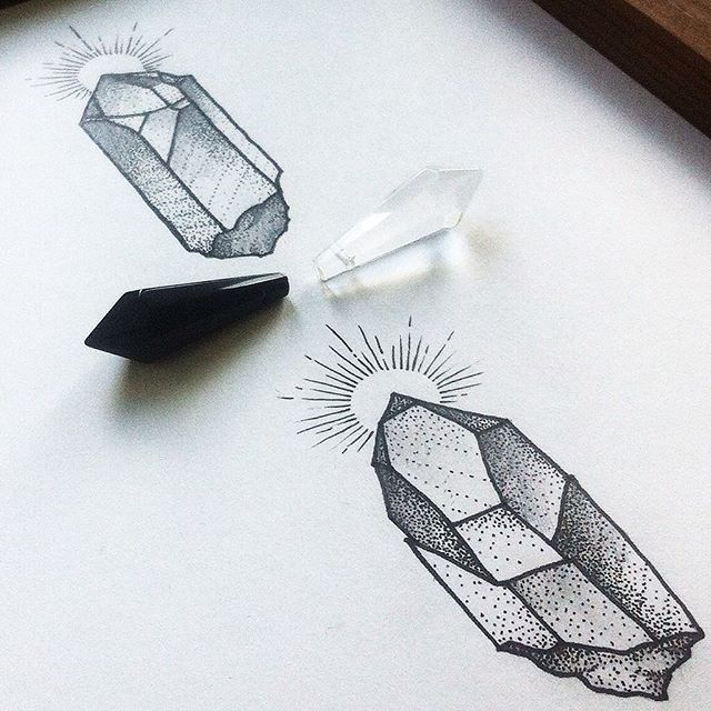 Crystals. Sketch Available. Эскиз свободен #dashatattooer