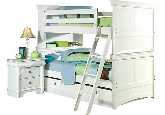 Shop For A Oberon White Bunk Bed At Rooms To Go Kids Find That Will Look Great In Your Home And White Bunk Beds Bedroom Furniture Stores Loft Beds For Teens