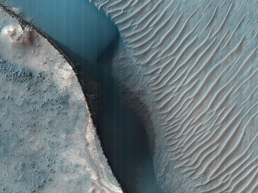 Light Toned Layered Deposits On Southern Mid Latitude Crater Floor