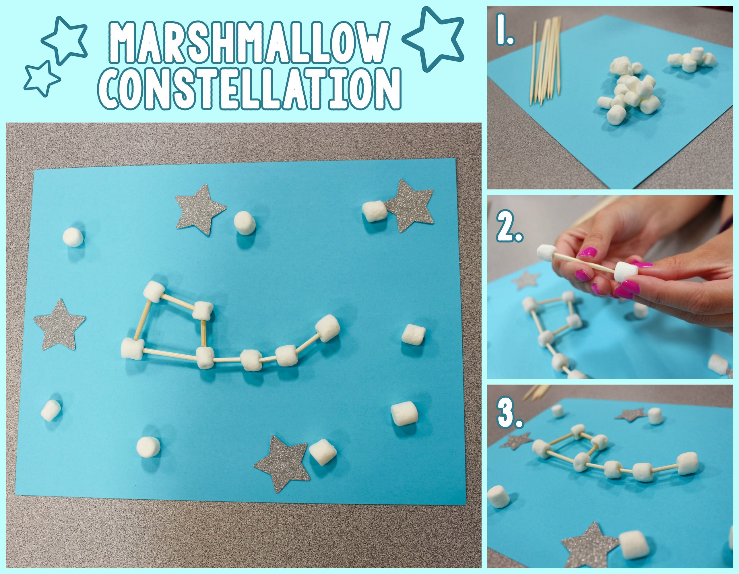 Marshmallow Constellation Crafts Project