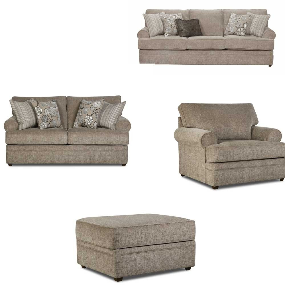 Simmons Upholstery - Macey 4 Piece Living Room Set - 8530BR-03-02-01 ...