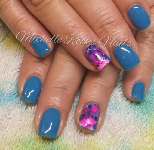 Gel Polish With Alcohol Ink Nails