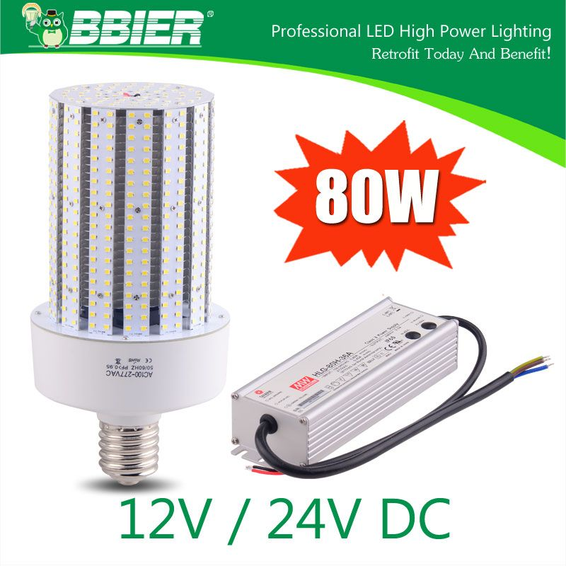 Dc 12v Dc 24v 80w Led Corn Bulbs Replacement Led Light Led Lights Street Lamp Energy Saving Projects