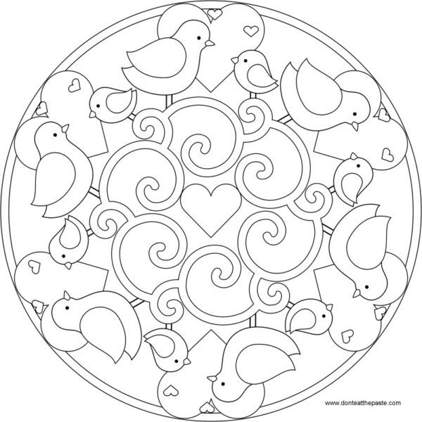 196 Dibujos de Mandalas para Colorear fáciles y difíciles Para