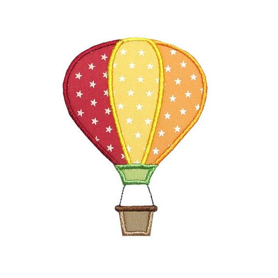 Hot Air Balloon Applique Machine Embroidery Digital Design Float ...