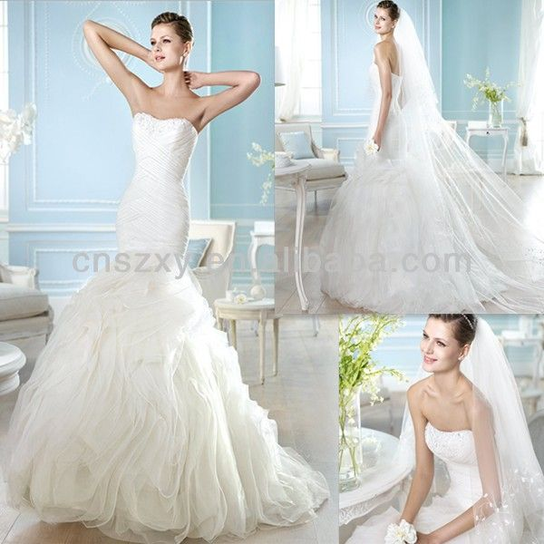 flat dress wedding wedding dressses chest mermaid forward flat chest