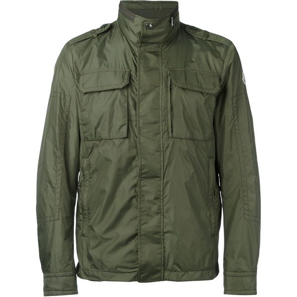 Moncler military style jacket ($640) ❤ liked on Polyvore featuring mens fashion, mens