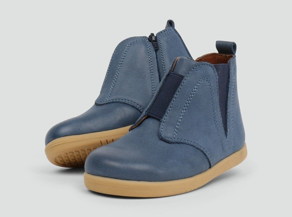 655281eb52e9 Signet Denim Bobux Boots - The dynamic lines on this modern boot are ...