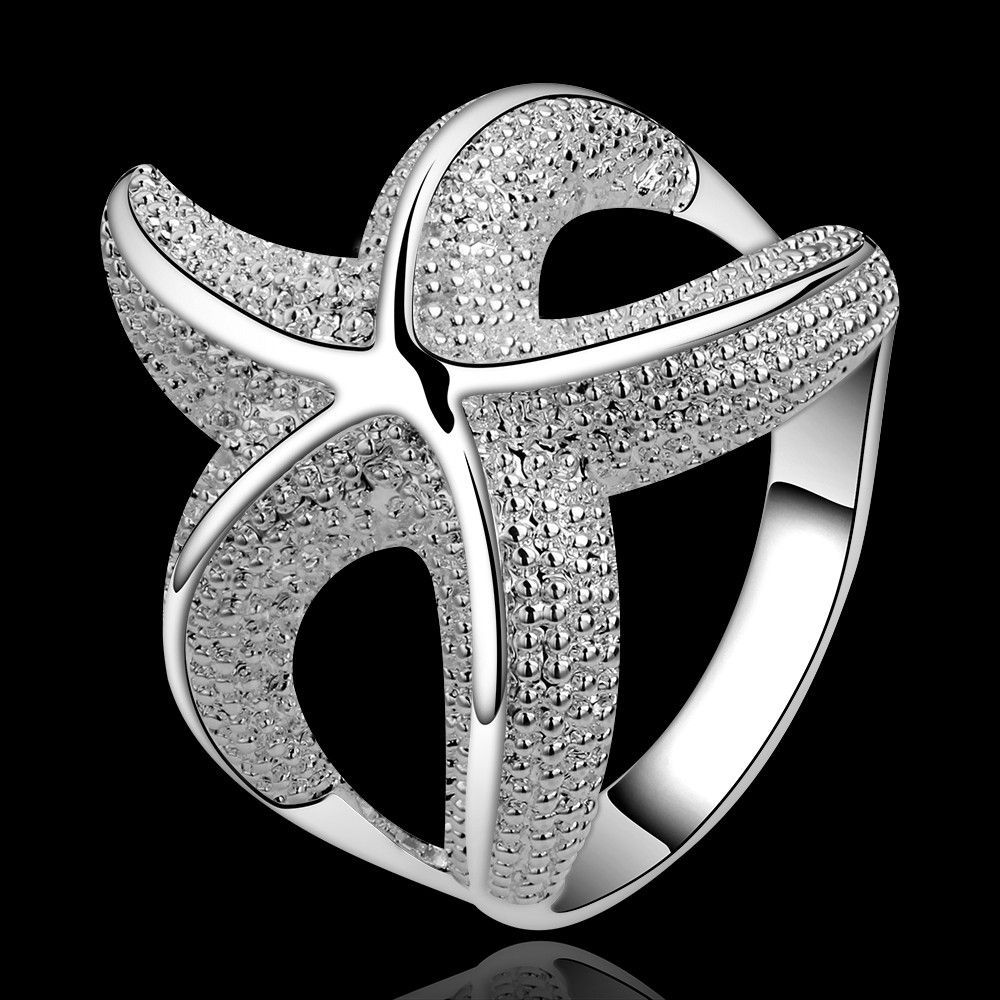 Stunning Starfish 925 Silver Plated Ring