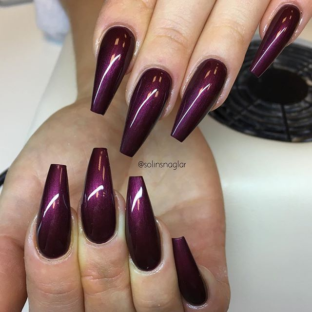 Black Cherry From Lillynails Cherry Nails Black Cherry Nails Nails