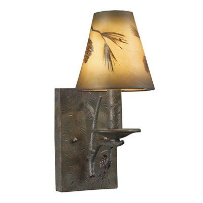 Shadow Mountain Sm1712 Wl Pn Hand Painted Wall Sconce Pine