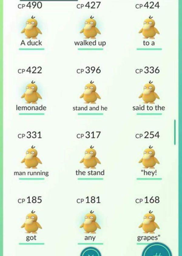 Duck Song Art Pokemon Pokemon Go Pokemon Funny