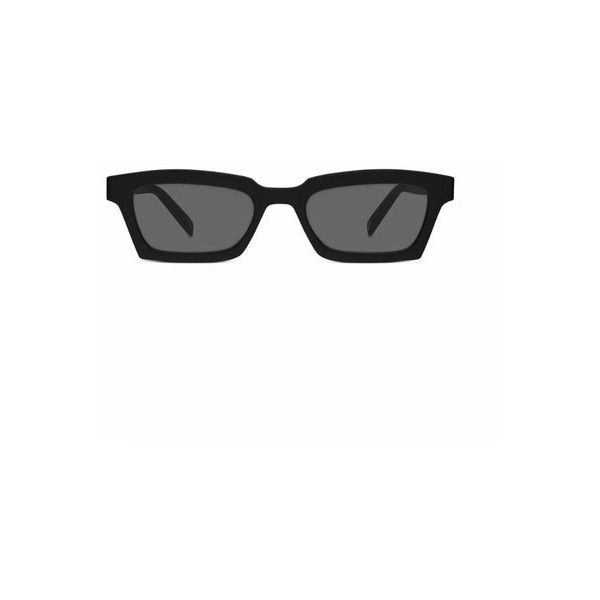 1f3452f500d9 Warby Parker off-white virgil abloh x warby parker small black... ( 250) ❤  liked on Polyvore featuring accessories