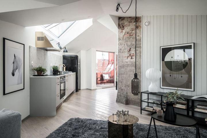 Sofisticado ático sueco Tiendas decoracion, Decoracion pisos
