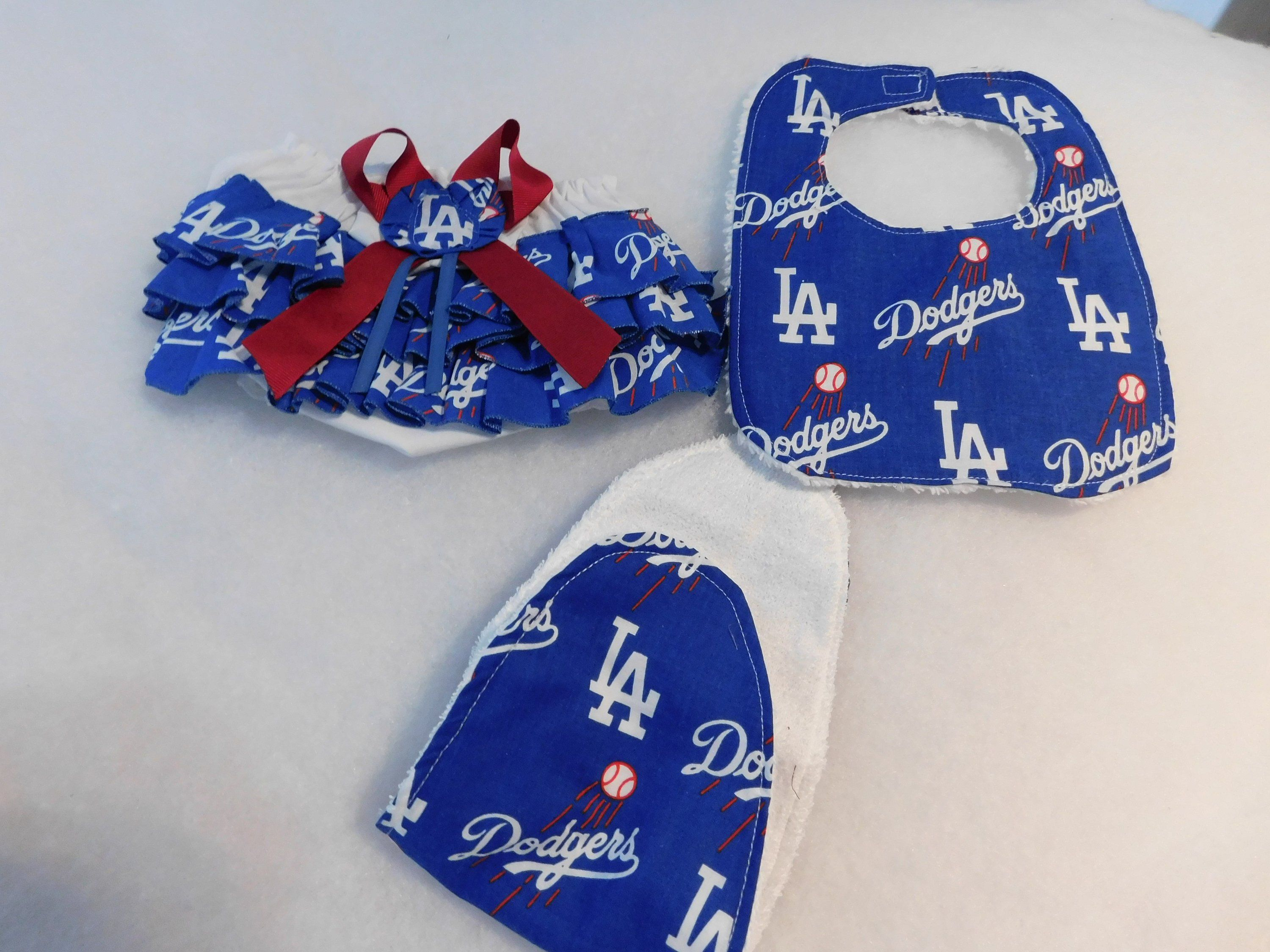 4fa5cf11a37 Dodgers Baby Girl Diaper Cover Back Butt Ruffle Bib Burp Cloth Gift Set Baby  Coming Home New Arrival Baby Shower New Baby Future Sooners by sososophie  on ...