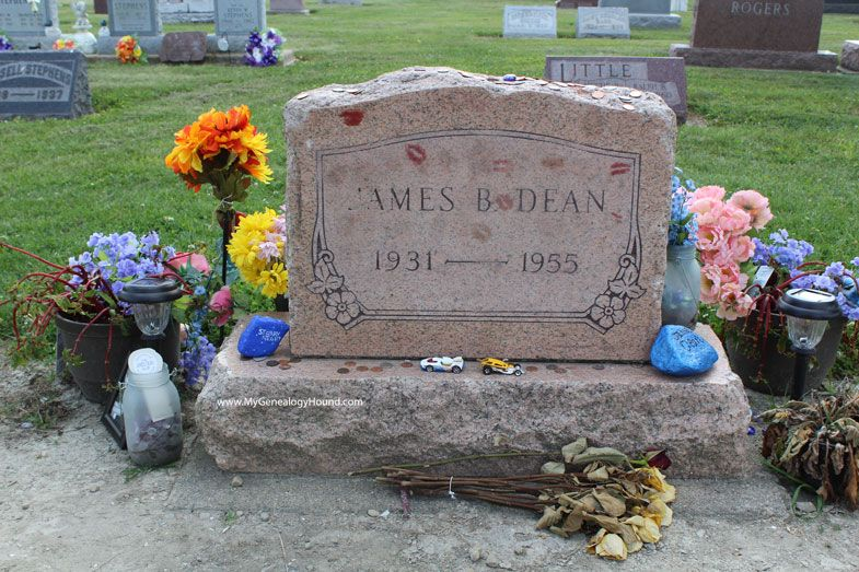James Dean, grave and tombstone, Park Cemetery, Fairmount, Indiana