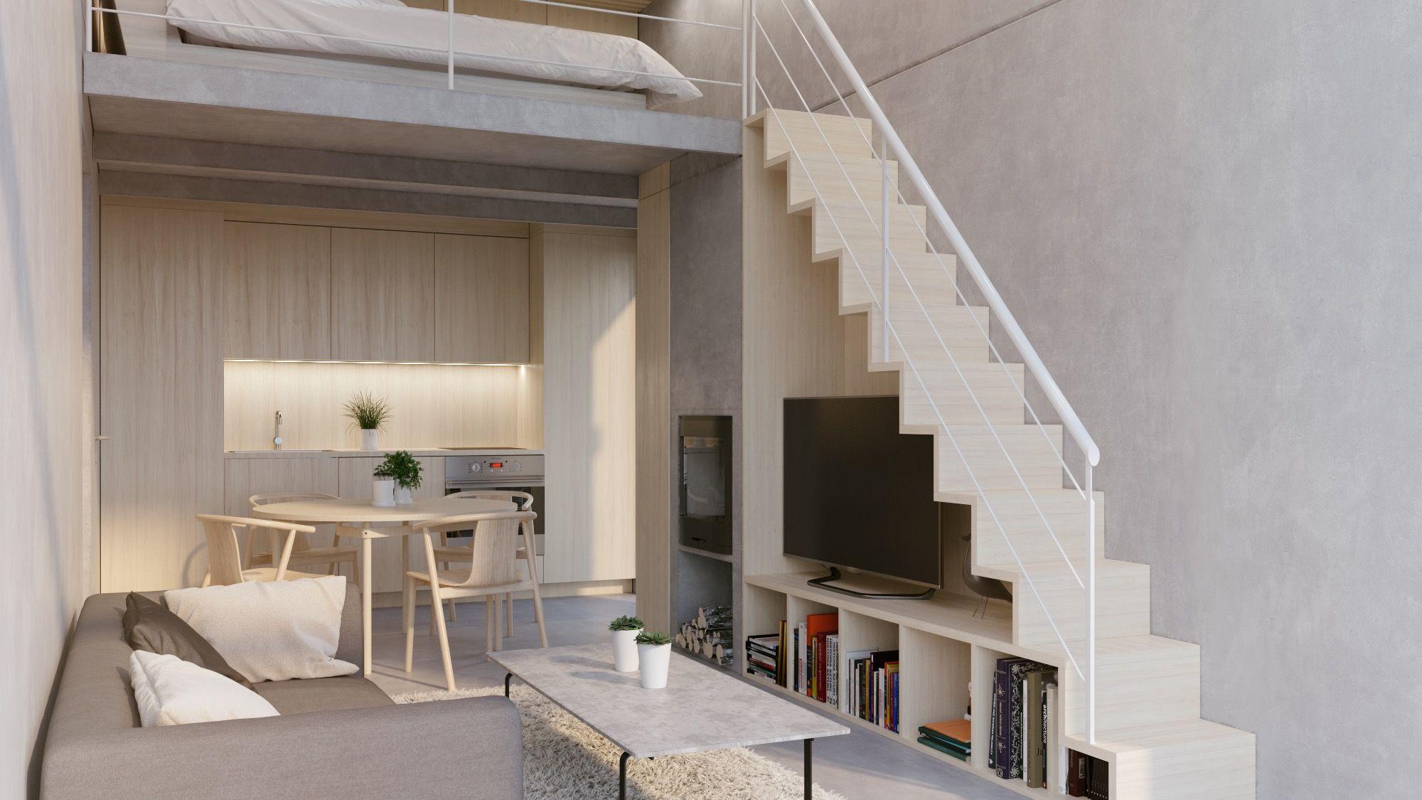 white interior color home study bedroom mezzanine design ideas