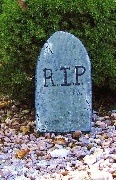 outdoor halloween decorations Outdoor Halloween Tombstone Lawn - how to make halloween decorations for yard