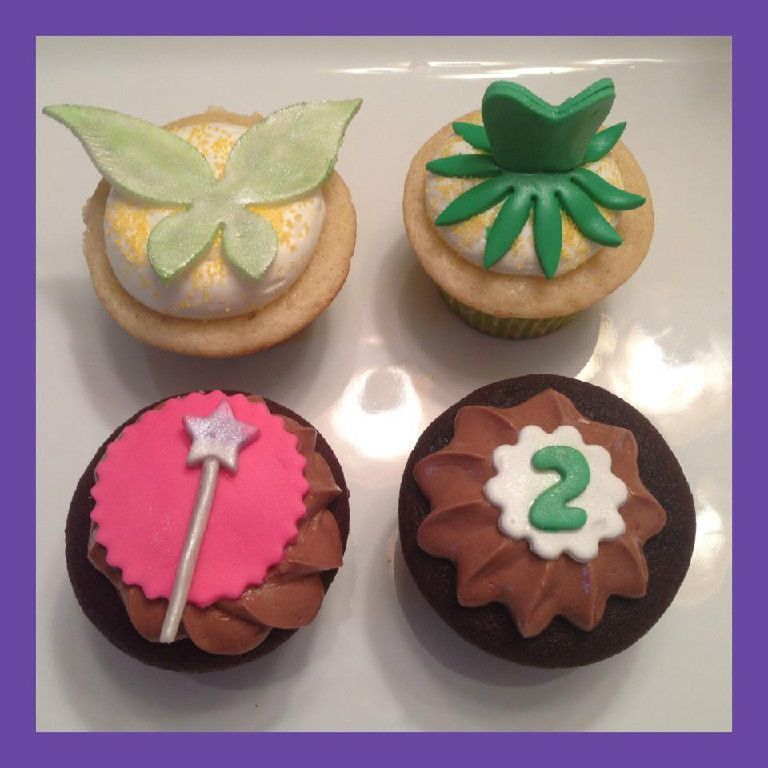 Tinkerbell Inspired Cupcakes From Lil Sweet Cake Sugar