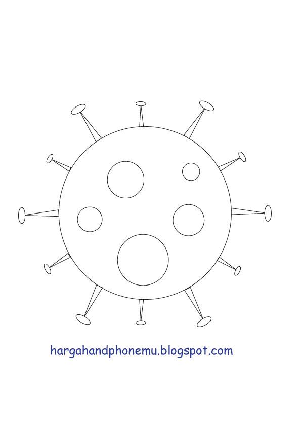 contoh 16 gambar mewarnai corona virus