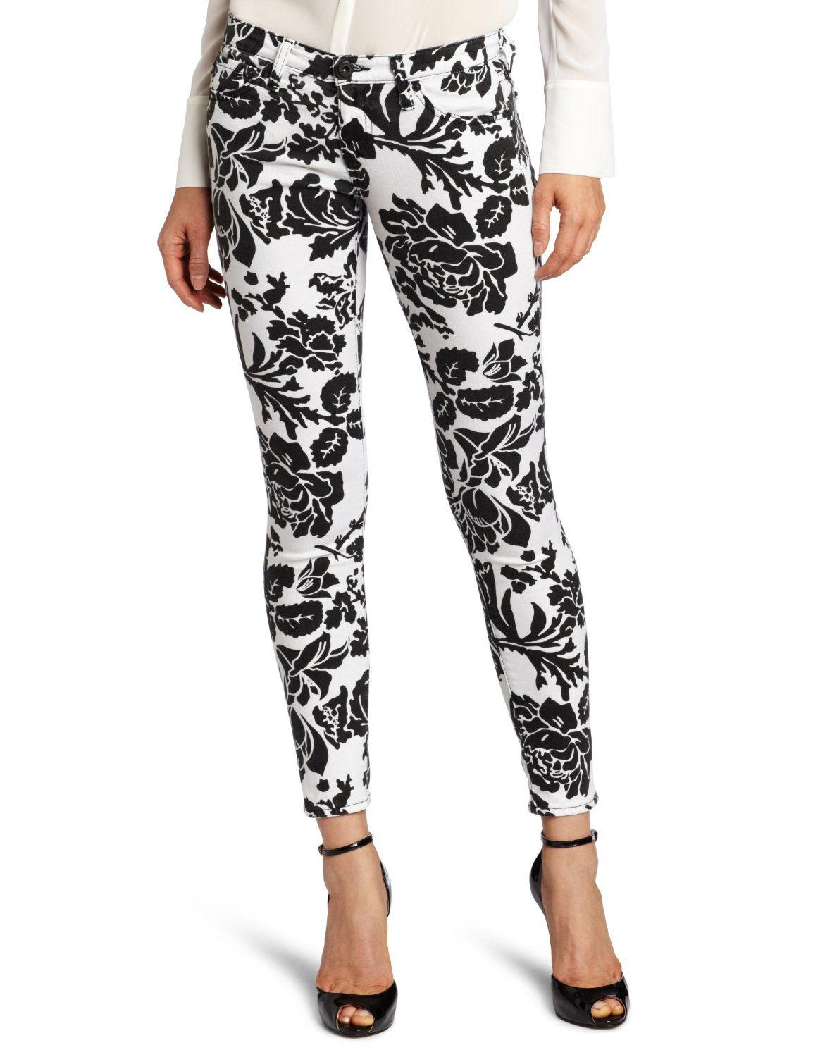black and white floral jeans | Gommap Blog