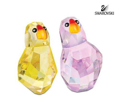 "Swarovski Crystal Figurines Lovlots Set of 2 Birds JIM + JESS on Broadway #1129629 Size: 1.5"" & 1.3"" tall New in original box"