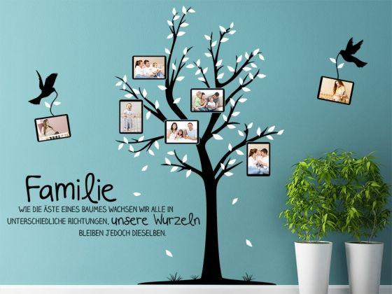 Die Perfekte Wandgestaltung Fur Familien Das Foto Wandtattoo