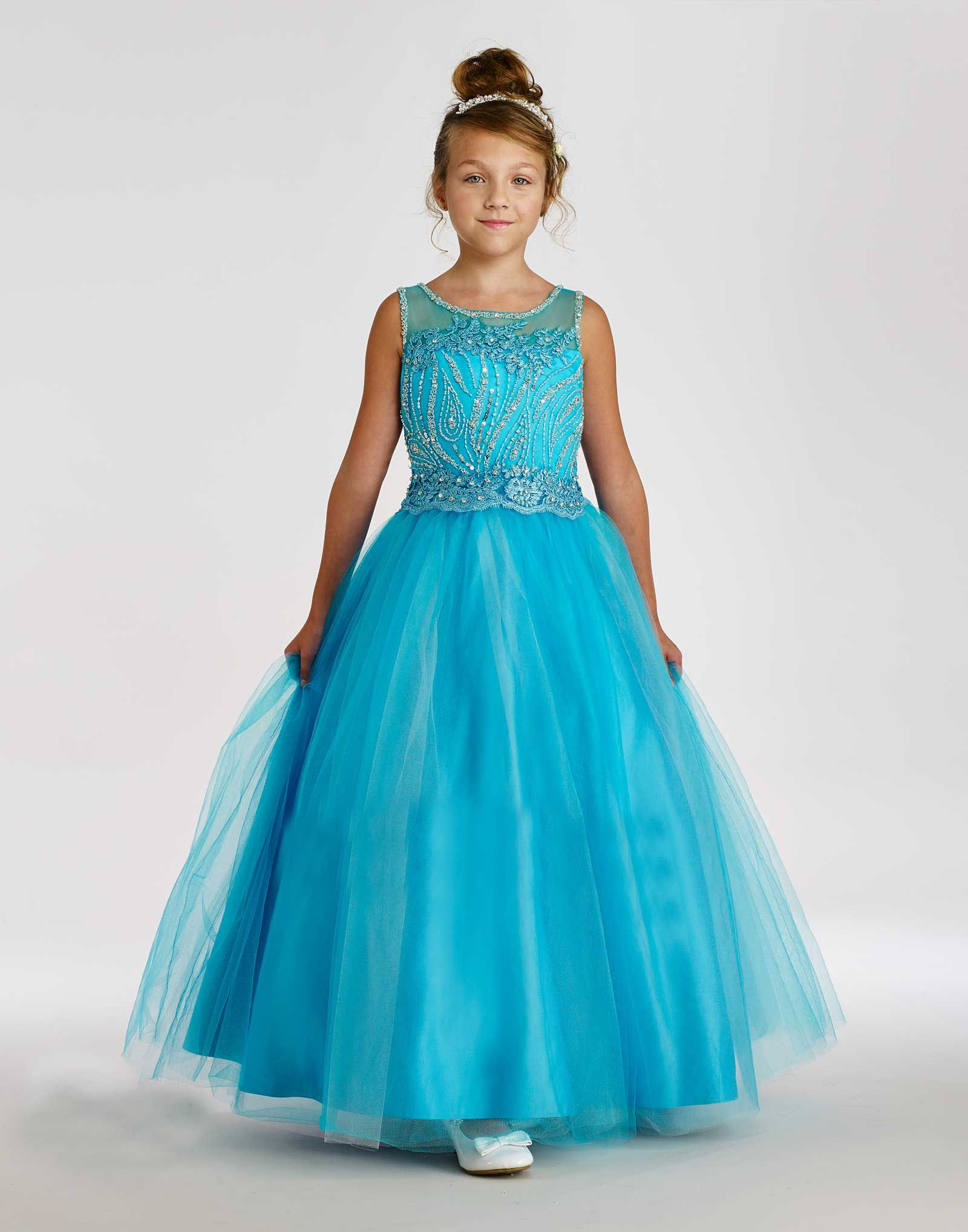 Macis couturedesigner girls dress style embroidered tulle