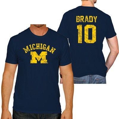 1bcd70d7432 Tom Brady Michigan Wolverines Men's Short Sleeve Tee   College ...