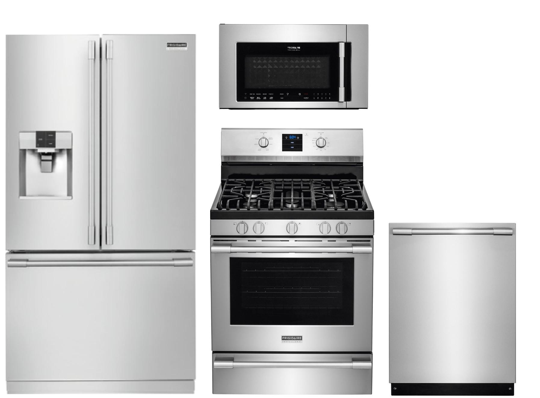 frigidaire professional 4 piece kitchen appliances package in