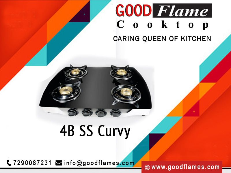 Innovative Sleek Four Burner Gas Stove From Goodflame Shop From Wide Range Of Gas Stoves In India At Best Prices Best Gas Stove Kitchen Cooktop Gas Stove