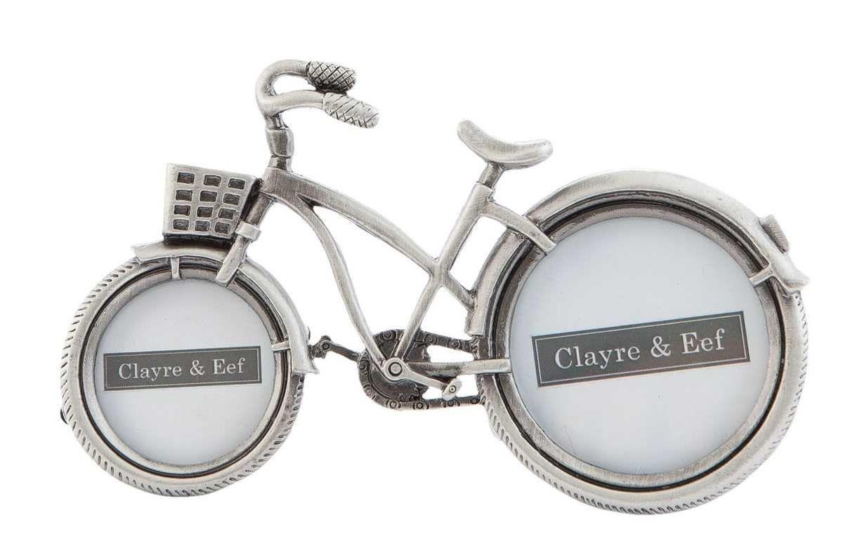 Clayre & Eef 2F0197 Bilderrahmen Fotorahmen Fahrrad Silberfarbig ...