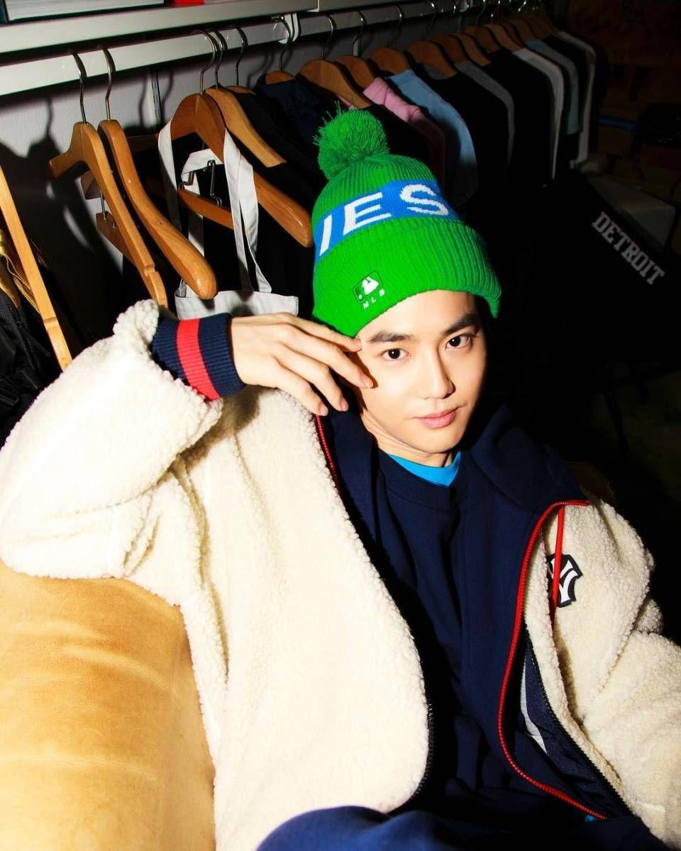 Mlb X Exo F W Collection Photoshoot Suho Exo Suho Kim Junmyeon