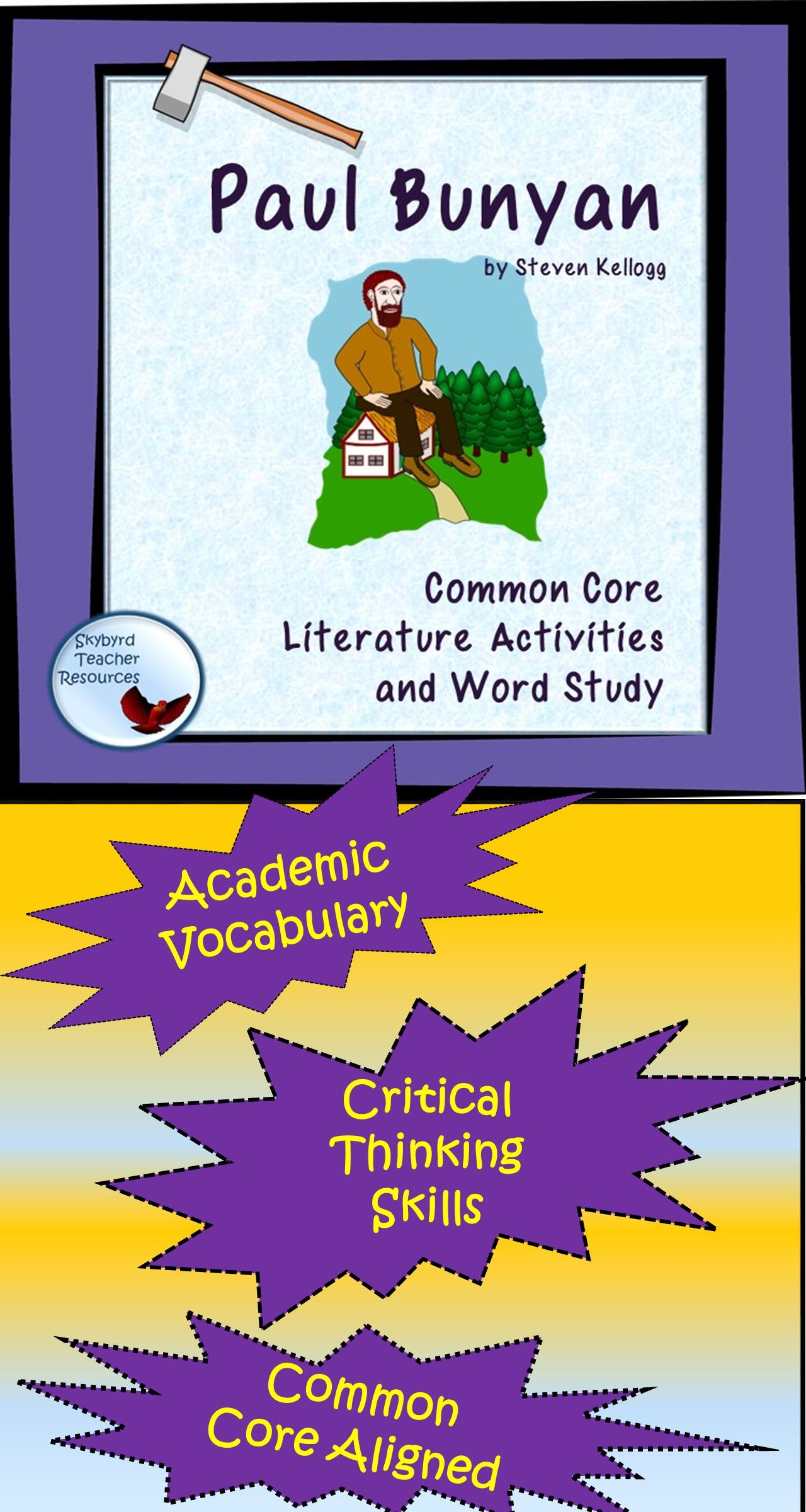 Paul Bunyan Tall Tale Literature Activities And Vocabulary