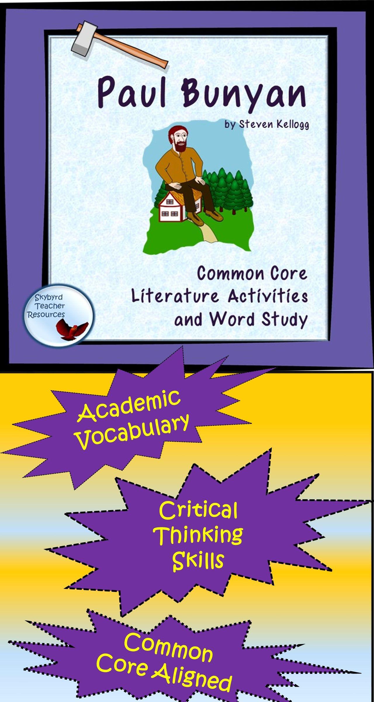 Paul Bunyan Tall Tale Literature Activities And Vocabulary
