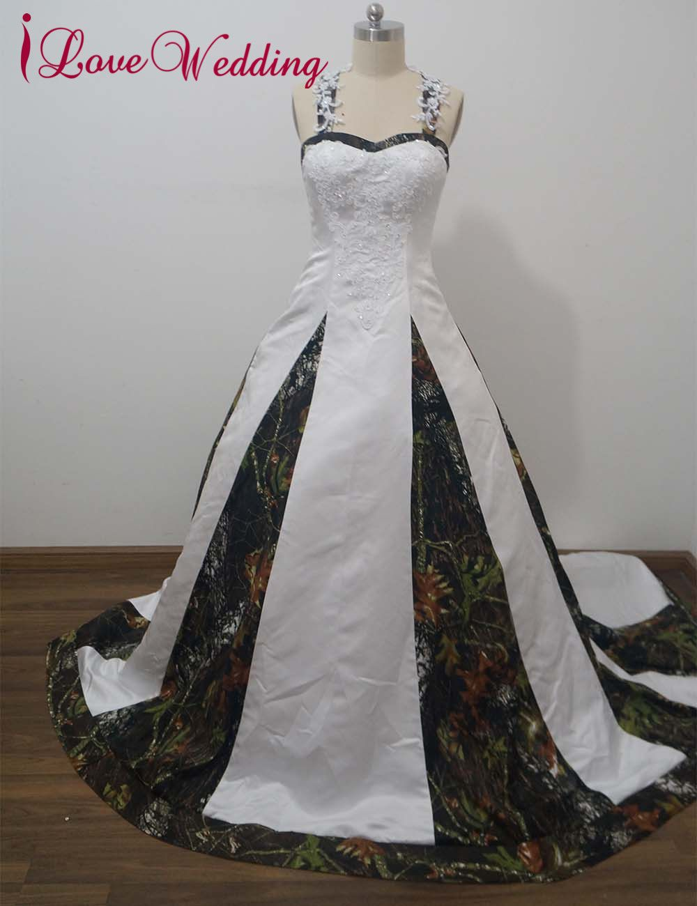 Wedding dresses camo  Click to Buy ucuc iLoveWedding Ball Gown Camo Wedding Dresses
