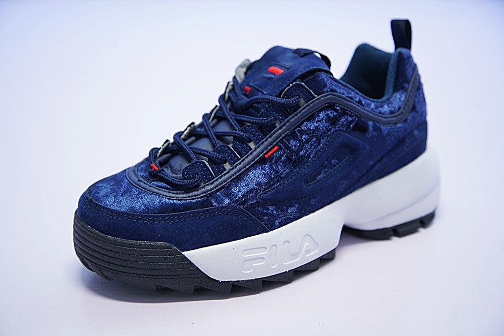 FILA DISRUPTOR II VELVET DARK BLUE SNEAKER FW0165 042 | Sneakers in ...
