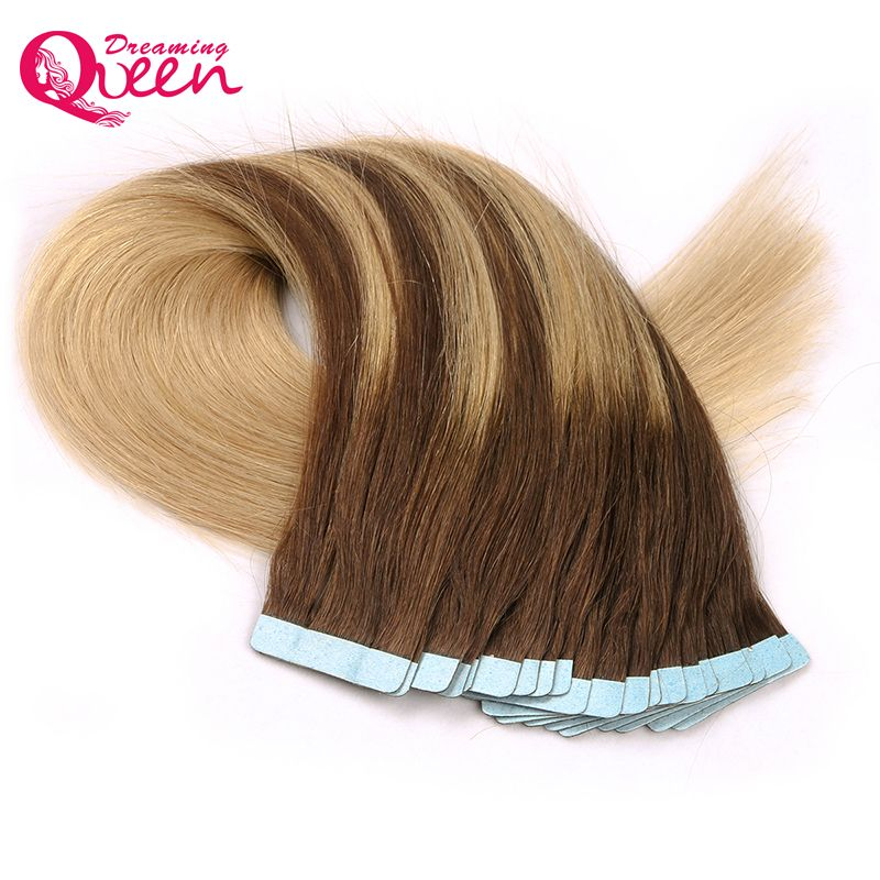 418418 Color Tape In Human Hair Extensions Brazilian Straight