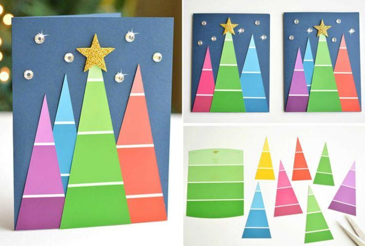 10 ideen zum weihnachtskarten basteln mit kindern. Black Bedroom Furniture Sets. Home Design Ideas
