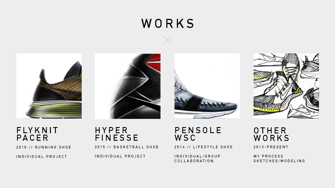 My updated 4 part Footwear Design Portfolio including a running project,  basketball project, Pensole