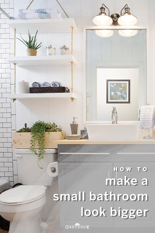 How To Make A Small Bathroom Look And Feel Larger In 2020 Small Bathroom Small Bathroom Floor Plans Minimalist Small Bathrooms