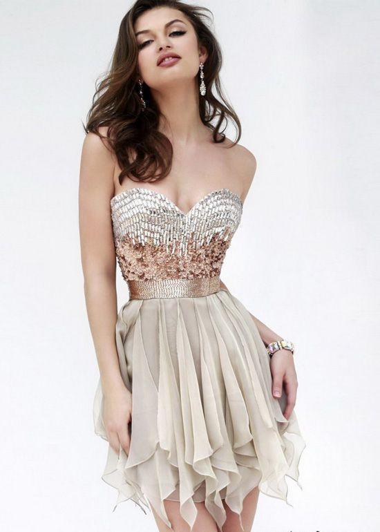 cutenfanci.com strapless cocktail dresses (09) #cocktaildresses ...