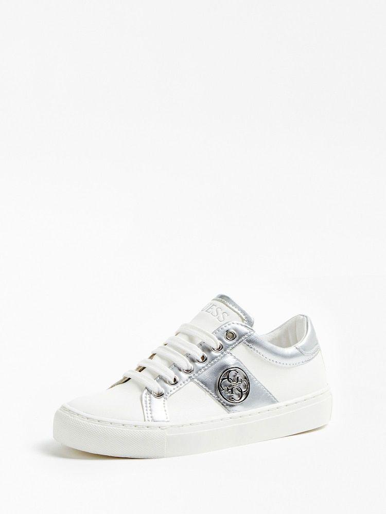 GUESS KIDS Sneaker 'JEWEL' Mädchen, Silber Weiß, Größe 37