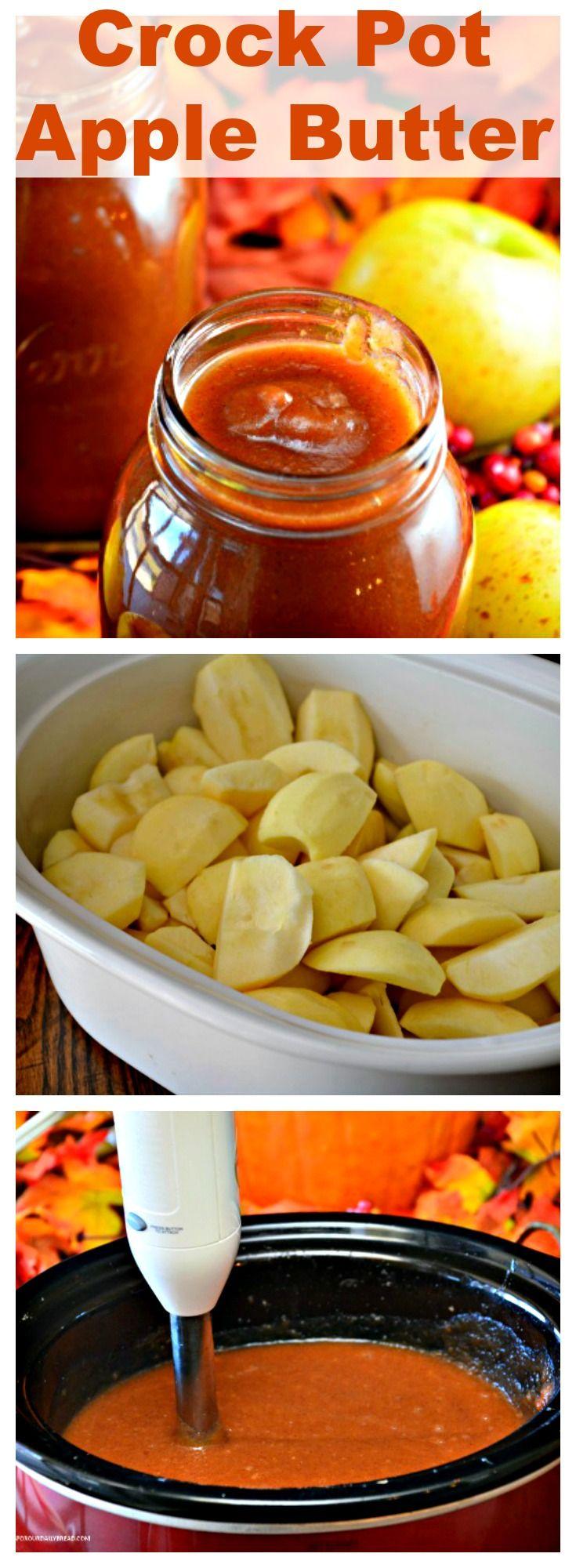 Slow cooker apple butter Recipe Apple butter, Slow