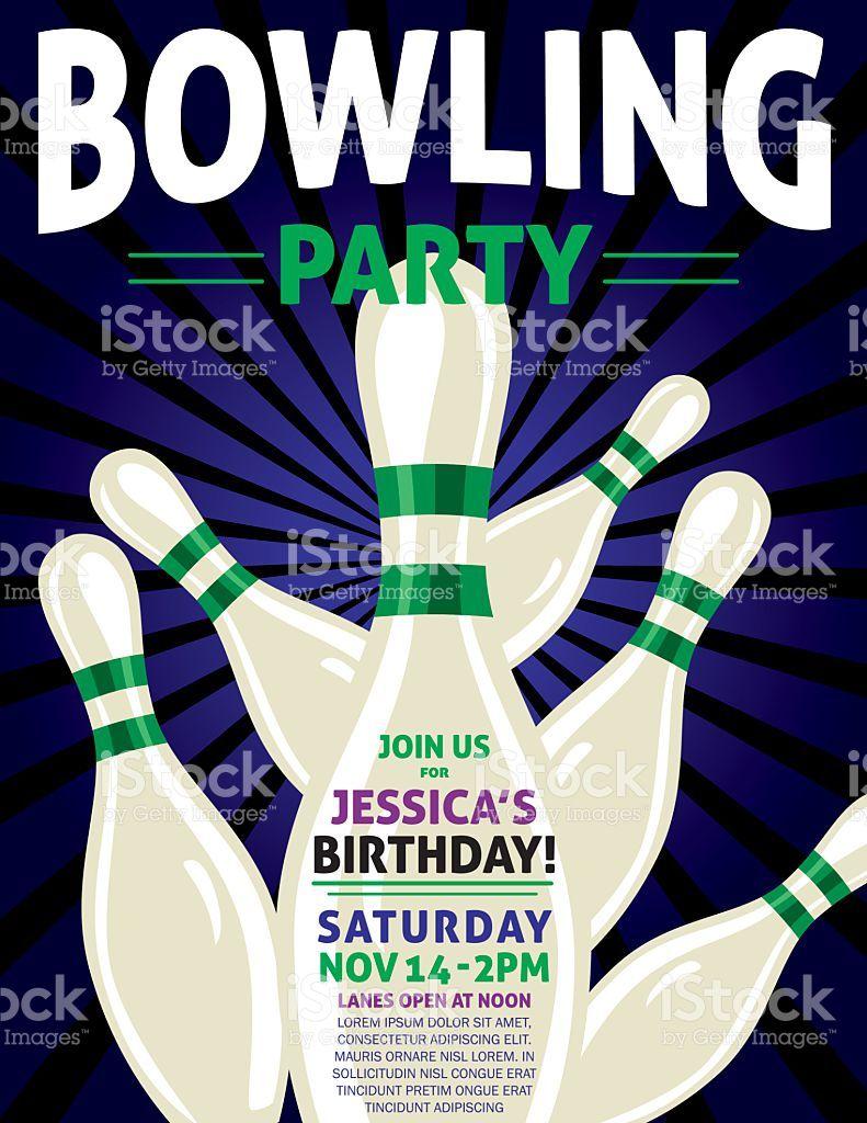 einladungskarten bowling kindergeburtstag   Bowling, Party