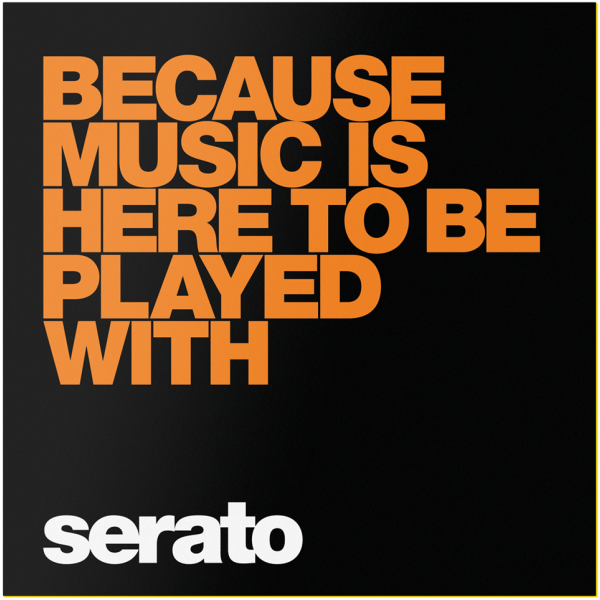 Serato Performance Series Black Because Music Is Here Vinyl Music Performance