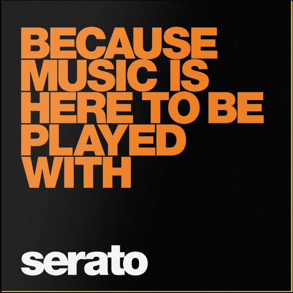 Serato Performance Series Black Because Music Is Here Vinyl Music Performance