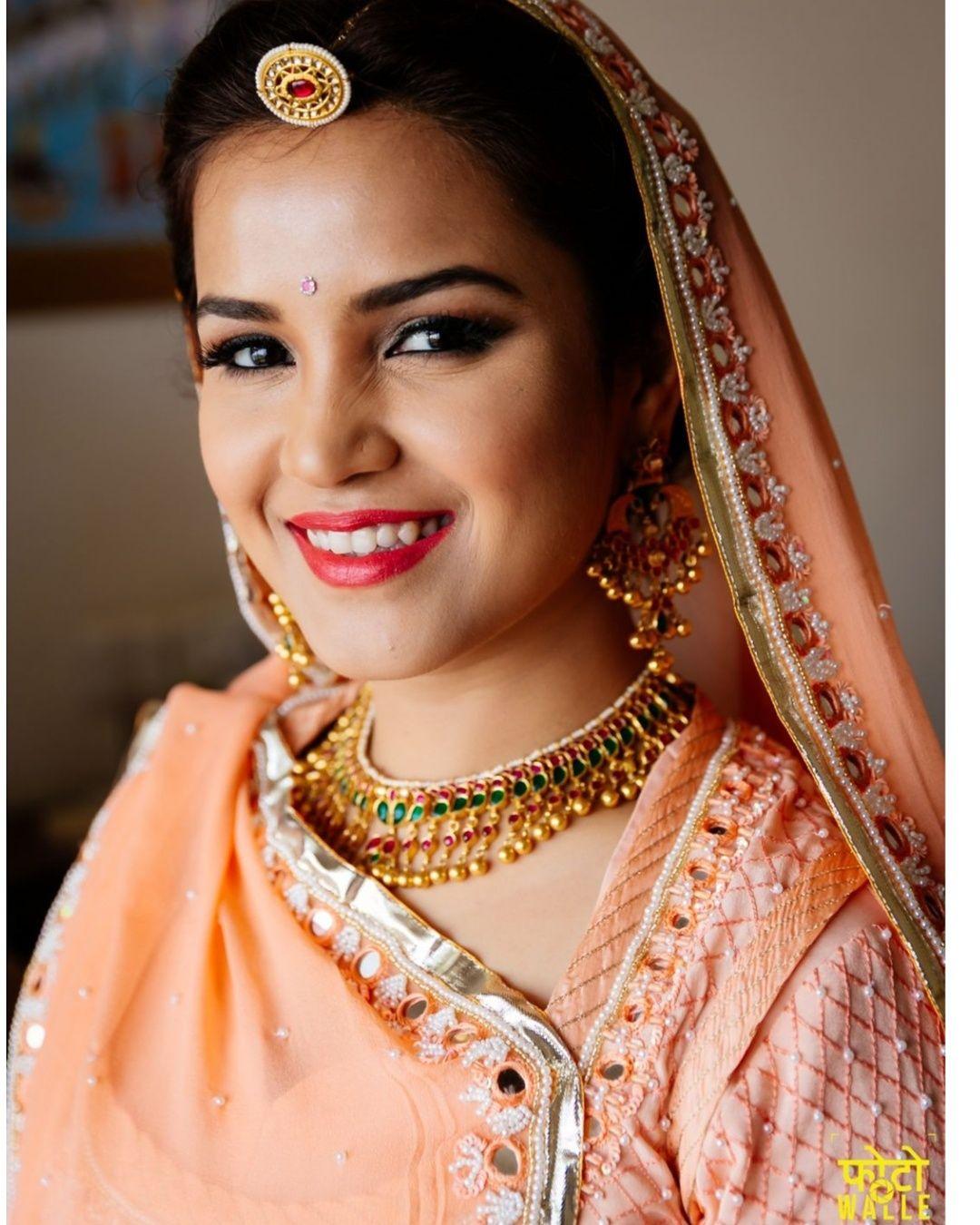 Sakshi Malik Studio Indian wedding makeup, Bride