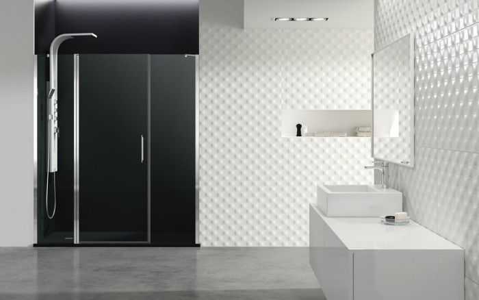 Baño con mampara OPEN y columna GOCTA BLANCA | Ideas de ...