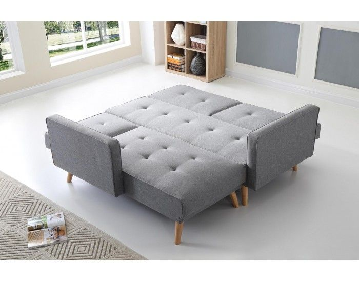 Scandinave Canape D Angle Reversible Convertible 267x151x88cm Gris Clair Home Living Wohnzimmer